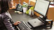 Ein Business Notebook wird zusammen mit einem Dockingsystem zum ergonomischen Arbeitsplatz und bleibt trotzdem mobil!