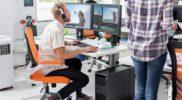 professioneller Videoschnitt mit einer Workstation